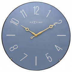 Nextime klok Trendy Dome Glass 35 Blue 3158BL