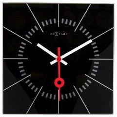 Nextime klok Stazione Glass 35 Black 8636ZW