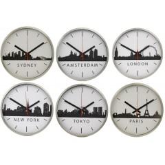 Set van 6 TTD Skyline klokken