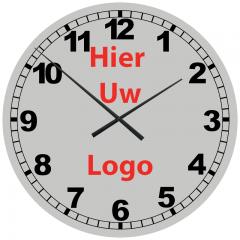Logo op klok 60cm Aluminium cijfers