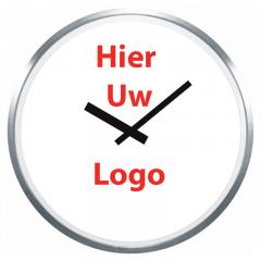 Logo op klok 60cm rand RVS