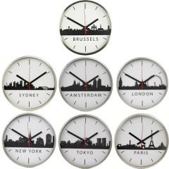 Set van 7 TTD Skyline klokken