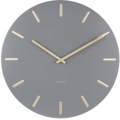 Karlsson Klok Charm grey steel with gold KA5716GY
