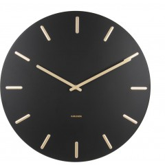 Karlsson Klok Charm black steel with gold KA5716BK